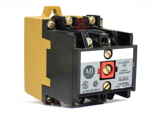 Allen-Bradley Bulletin 700 115-120 Volt Type P Contact AC Relay (700-P200A1)