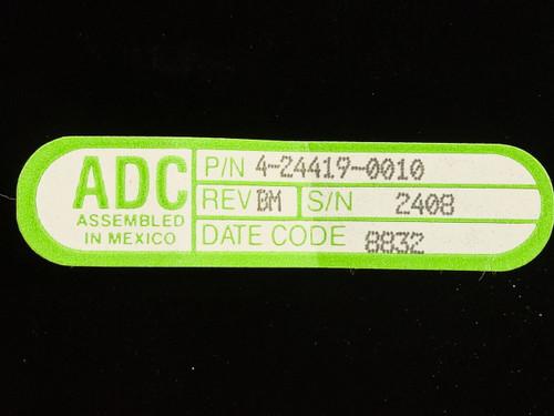 """ADC 4-24419-0010  DSX Module 56 CKT 23"""" Rackmount"""