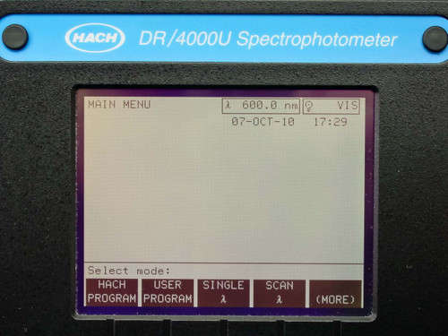 Hach  DR/4000  Spectrophotometer
