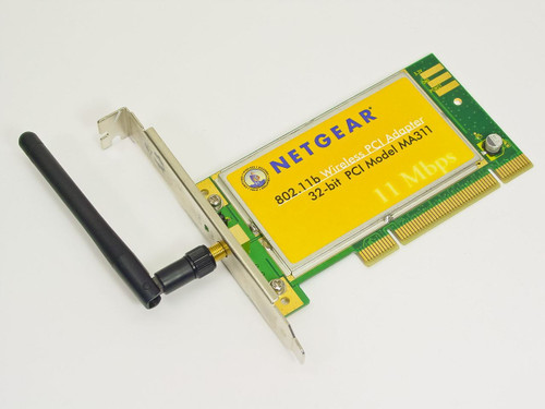 Netgear MA311  Wireless PCI Adapter 802.11b 11Mbps/2.4GHz