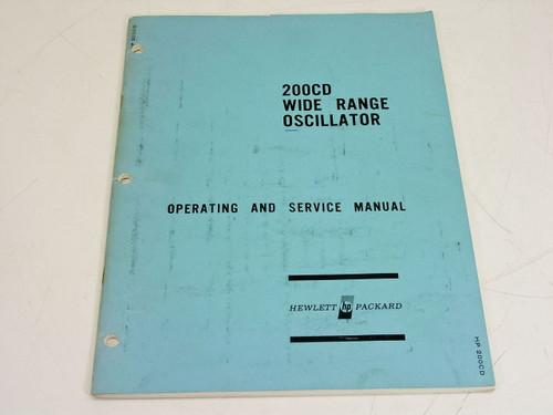 HP 200CD-905  Wide Range Oscillator Operating & Service Manual