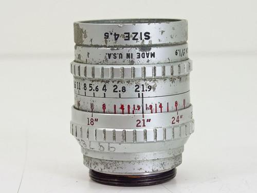 "Bell & Howell  1"" F1.9 Size 4.5   Super Comat C-Mount Lens"