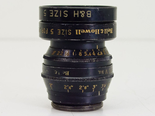 "Bell & Howell  1"" 25mm F1.9   B&H Size 5 C-Mount Lens"