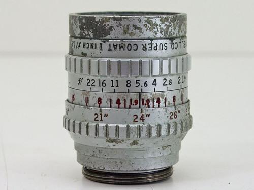"Bell & Howell  1"" F1.9 Size 4.5   C-Mount Lens"