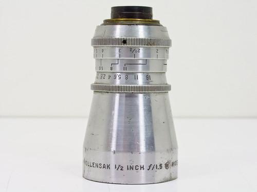 """Wollensak  1/2"""" F1.5 Wide Angle Cine Raptar   C-Mount Lens"""