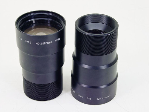 Bell & Howell  16mm Projection   Lens- Lot of 2