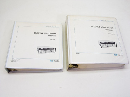 HP 3586A/B/C  Selective Level Meter Service Manual 03586-90002