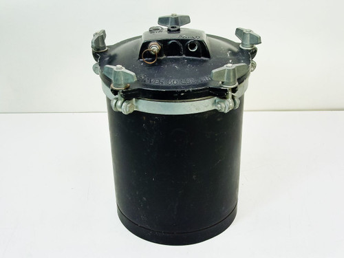 Black 2.45 Gallon 10 x 10 x 14  Paint Pot Air Pressure Tank