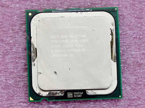 Intel SLAY7  Pentium E5200 Dual-Core 2.5GHZ Processor