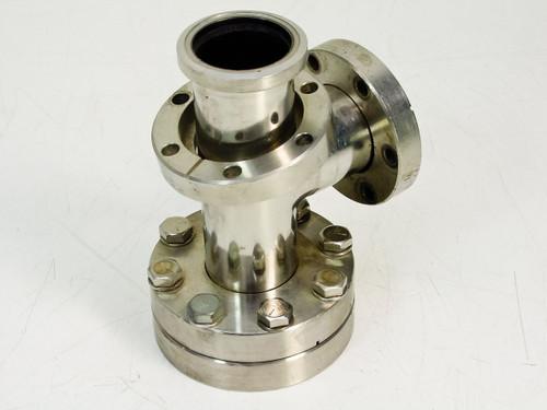 """Perkin-Elmer / MDC O.D. 2.75"""", I.D. 1.375""""  Vacuum Conflat Flange Tee"""