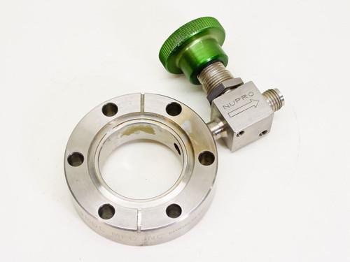 MDC / Nupro O.D. 70mm, I.D. 38mm  Vacuum Conflat Flange / SS-4H Valve