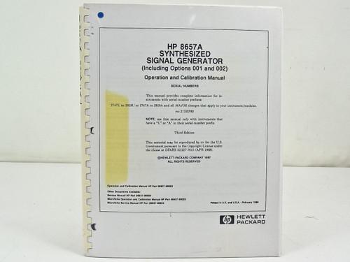 HP 8657A  Operation & Calibration Manual