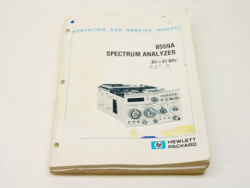 HP 8559A  Operation & Service Manual