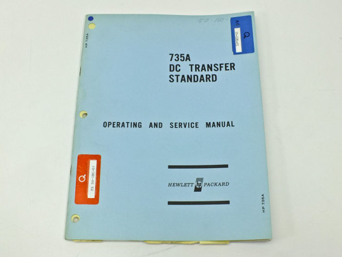 HP 735A  Operating & Service Manual