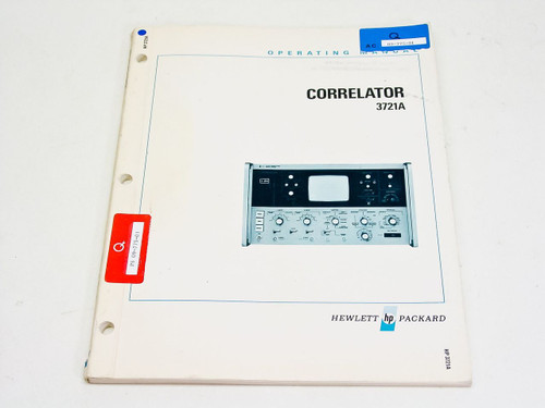 HP 3721A  Operating Manual