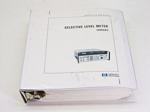HP 3586 A/B/C 03586-90001  Selective Level Meter Service Manual