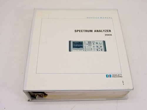HP 3582A  Spectrum Analyzer Service Manual