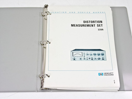 HP 339A  Distortion Measurement Operating & Service Manual