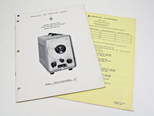 HP 200CD  Wide Range Oscillator Operating & Service Manual