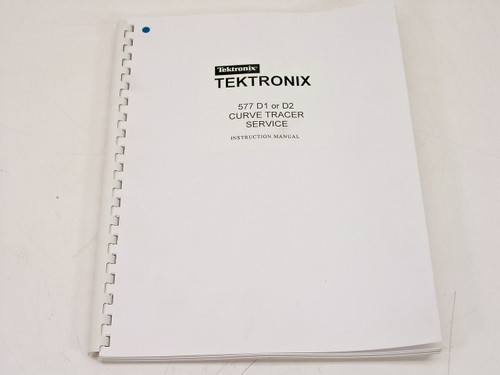 Tektronix 577 D1 or D2  Curve Tracer Service Instruction Manual - Copy
