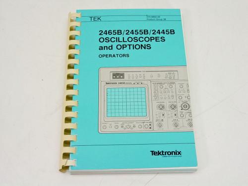 Tektronix 2465B/2455B/2445B Oscilloscopes and Options  Operators Manual