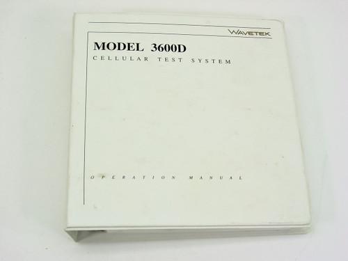 Wavetek 3600D  Operation Manual