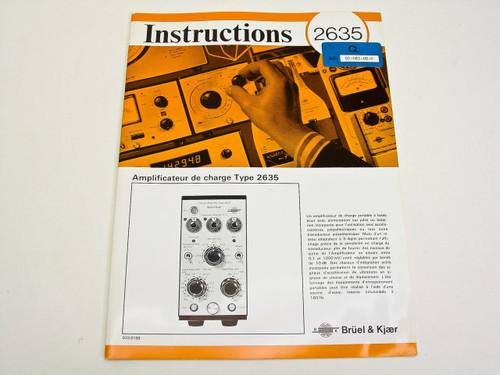 Bruel & Kjaer 2635  Instruction Manual - French