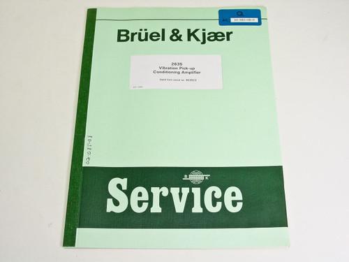 Bruel & Kjaer 2635  Charge Amplifier Service Instruction