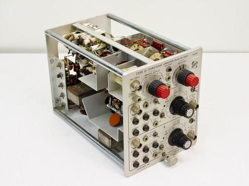 Tektronix Type O  Operational Amplifier Plug-in Unit