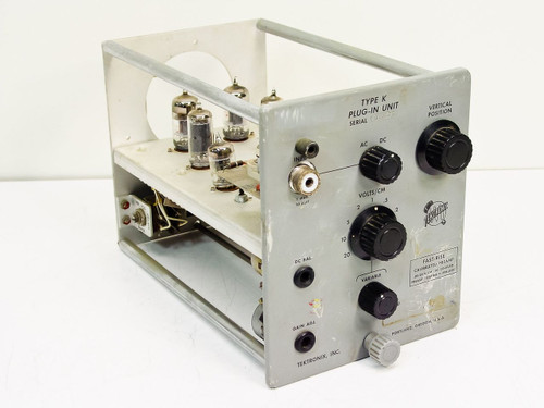 Tektronix Type K Plug-in Unit   Fast-Rise Calibrated Preamp