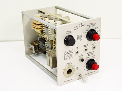 Tektronix  Type E Plug-in Unit   Low Level Differential Calibrated AC Preamp