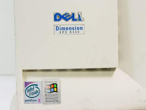 Dell Dimension XPS R350  Pentium II 350 MHz Slot 1, 4.3GB HDD, 256MB RAM, Tower PC