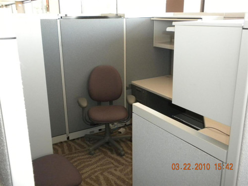 Steelcase Avenir  Office Modular Cubical System with Chairs Cabinets