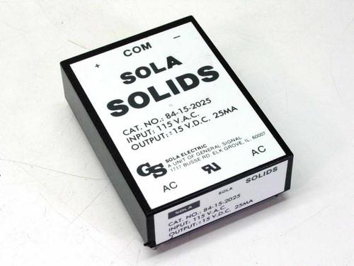 SOLA 84-15-2025  &/- 15VDC Power Supply