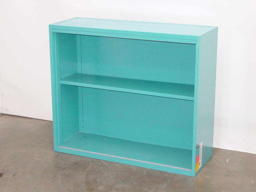 "Blue Steel 36""w x 31""h x 13"" d  Display Metal Cabinet - No Glass"