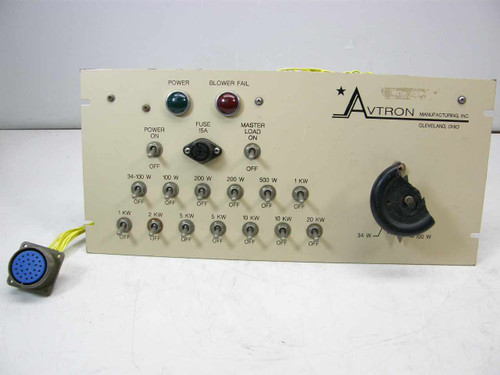 Avtron Power Load Testing  Rackmount Control Panel