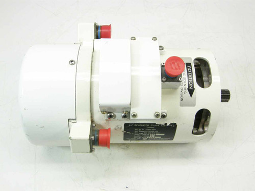 Pacific Scientific 5663  25 KVA AC Generator 3ph 400Hz 12000 RPM