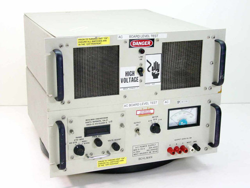 Behlman 3-75-A  2.25 KVA 3PH AC Power Supply 150 to 2000 Hz Variab