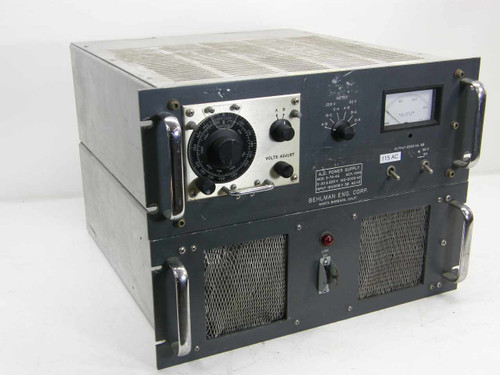 Behlman 3-75-AS  2.25 KVA 3PH AC Power Supply 150 to 2000 Hz Variable