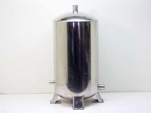"Aluminum 12"" Diameter  10 Gallon Mixing Tank"