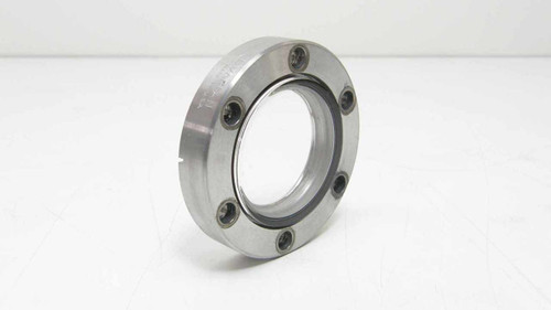 Varian CF   Vacuum Flange with Viewport Glass