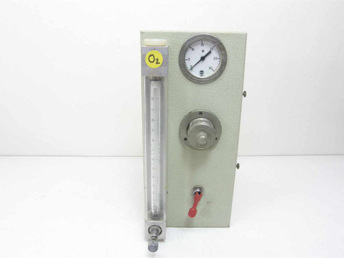 Fisher & Porter FP-1/4-10-G-6  Regulated Flow Meter w/Pressure Gauge