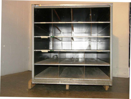 "Cabinet 51""x 36"" x 36""  18-Pocket Steel used for Glass Blowing Lathe Stock"