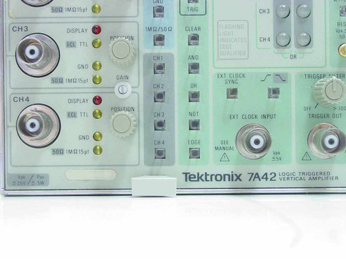 Tektronix 7A42  Logic Triggered Vertical Amplifier Plug In