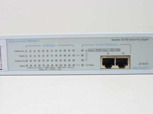 3COM 3C16475  SuperStack 3 Baseline 10/100 Switch Plus Gigabit