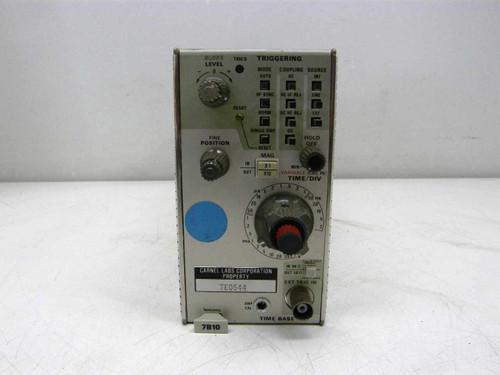 Tektronix 7B10  Time Base - Triggering Oscilloscope Plug-In