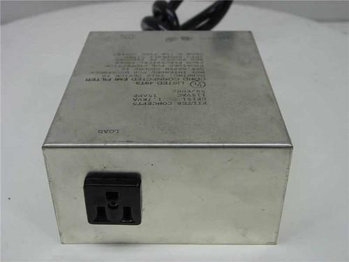 Filter Concepts CF151  Cord Concepts EMI Line Filter 1.7KVA 15AMP 115V