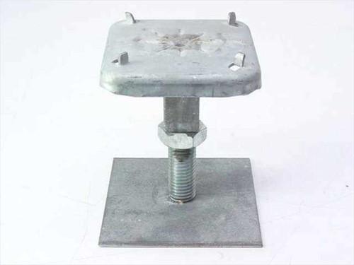 """Flooring  4"""" Square Base  Adjustable Steel Riser Pedestal"""