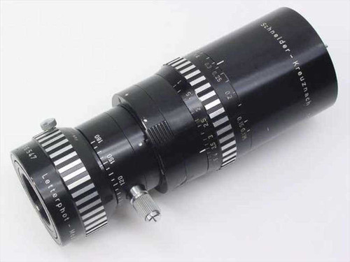 Schneider Letterphot Vario  Composer 55x lens and Anamorphic letterphot Modificator