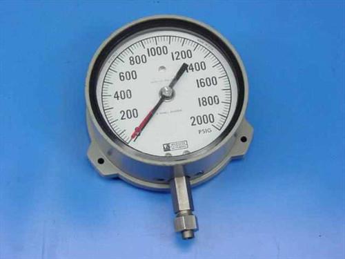 Weksler Instruments 6685-00-906-4008  2000 PSIG Pressure Gauge